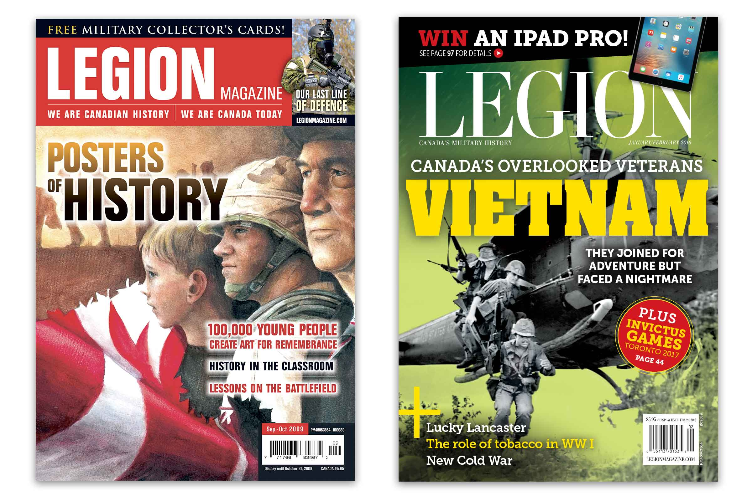 legion magazine covers